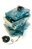 gammal kassettmusik fotografering för bildbyråer