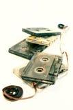 gammal kassettmusik arkivbild