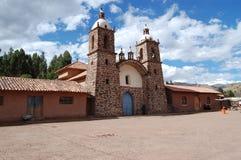 Gammal katolsk kyrka i Bolivia Arkivbild