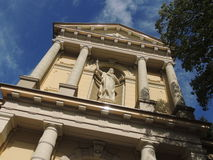Gammal katolsk kyrkaSt Vitus, Hilversum, Nederländerna Royaltyfria Bilder