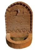Gammal keramisk en forntida springbrunnkonst Royaltyfri Bild