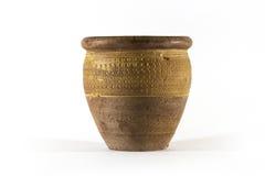Gammal keramisk kruka från lera Royaltyfri Foto