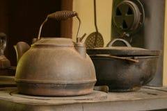 gammal kettle Arkivbild