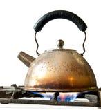 gammal kettle fotografering för bildbyråer