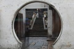 Gammal Kina vattenstad Royaltyfri Bild
