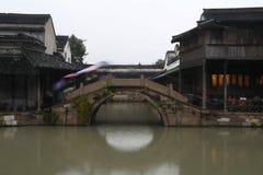 Gammal Kina vattenstad Royaltyfri Fotografi