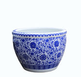 Gammal kinesisk målning för stil för blommamodell på den keramiska bunken, Arkivbilder