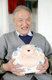 gammal kinesisk man Arkivbilder