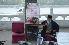 gammal kinesisk man Royaltyfri Foto
