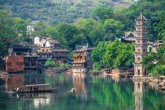 Gammal kinesisk traditionell stad Arkivbilder
