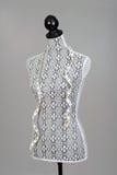 Gammal klänningform med måttband Arkivfoton