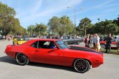 Gammal klassisk röd amerikansk sportbil Arkivbild