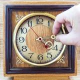 Gammal klocka för foto Arkivbild