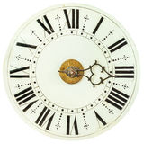Gammal klockaframsida med roman nummer arkivbild