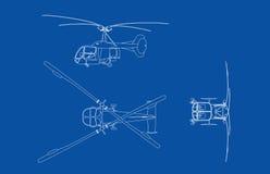 gammal klockahelikopter Royaltyfri Foto