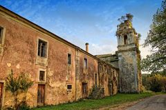 Gammal kloster i Coimbra Portugal Royaltyfri Foto