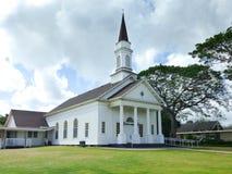 Gammal Koloa kyrka i Koloa, Kauai Arkivbilder