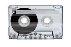 Gammal kompakt ljudsignalkassett (bandet) Arkivbilder