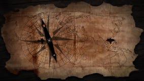 gammal kompassöversikt lager videofilmer