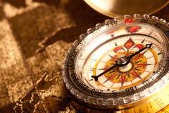 gammal kompass Arkivbilder
