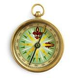 Gammal kompass stock illustrationer