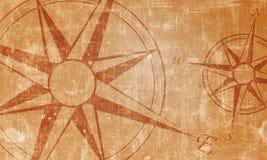 gammal kompass vektor illustrationer