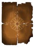 gammal kompass royaltyfri illustrationer