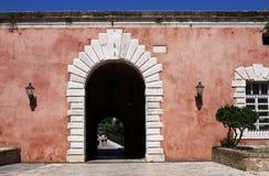 Gammal Korfu fästningingång Royaltyfri Fotografi