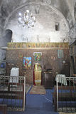 Gammal kristen kyrka i gammal stad av Jerusalem, Israel fotografering för bildbyråer