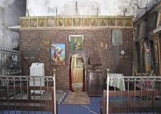 Gammal kristen kyrka i gammal stad av Jerusalem, Israel arkivfoton