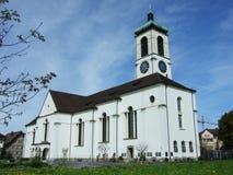 Gammal kristen kyrka i stad av Gossau royaltyfri bild