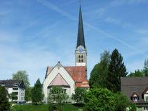 Gammal kristen kyrka i stad av Herisau royaltyfri fotografi
