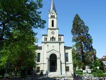 Gammal kristen kyrka i stad av Konstanz arkivbilder