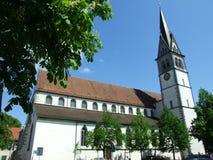 Gammal kristen kyrka i stad av Konstanz arkivbild