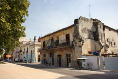 Gammal kubansk byggnad Arkivbild