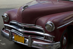 Gammal kubansk klassisk bil Fotografering för Bildbyråer