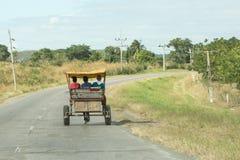 Gammal kubansk vagn Royaltyfria Bilder
