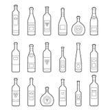 gammal kuggewine för flaska vektor illustrationer