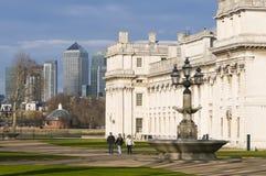 Gammal kunglig sjö- högskola Greenwich Arkivfoto