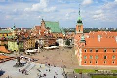 gammal kunglig town för slott Royaltyfri Fotografi