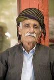 gammal kurdish man Arkivfoto