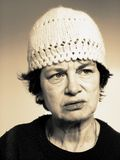 gammal kvinna Arkivbild