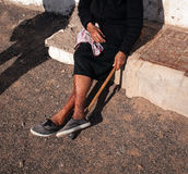 Gammal kvinna Arkivfoto