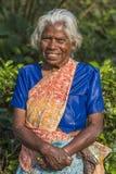Gammal kvinna av Sri Laka arkivfoton