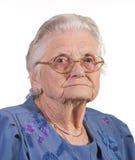gammal kvinna för exponeringsglas Arkivfoton