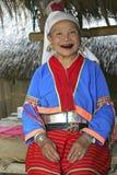 Gammal kvinna från den Palong stammen, Thailand Royaltyfria Foton
