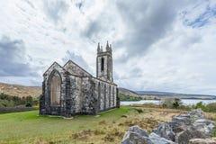 Gammal kyrka av Dunlewey royaltyfri fotografi