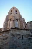 Gammal kyrka av Morella Arkivfoto