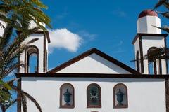 Gammal kyrka i Agaete Arkivbilder