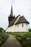 Gammal kyrka i Chetfalva Transcarpathia ukraine Arkivfoto